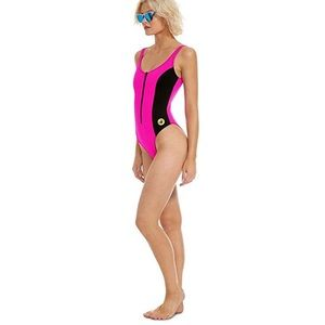 NWOT Body Glove 80s Throwback Time pink swimsuit L